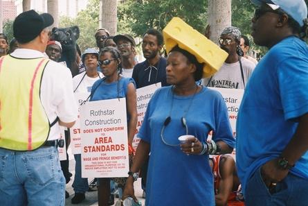Manifestação do sindicato em Miami